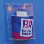 baskin robin suggestionbox