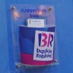 baskin robin suggestionbox