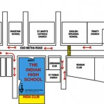 Location map for IHS Dubai Indian High School Dubai