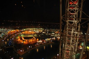 Global Village Dubai Pavilions from the top