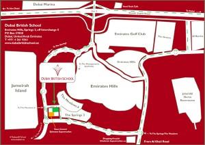 Location Map for Dubai British School