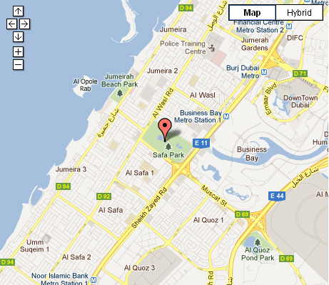 safa park dubai location map