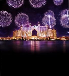 Atlantis Hotel Palm Jumeirah Fireworks 2014