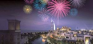 Burj Al Arab Fireworks 2013-2014