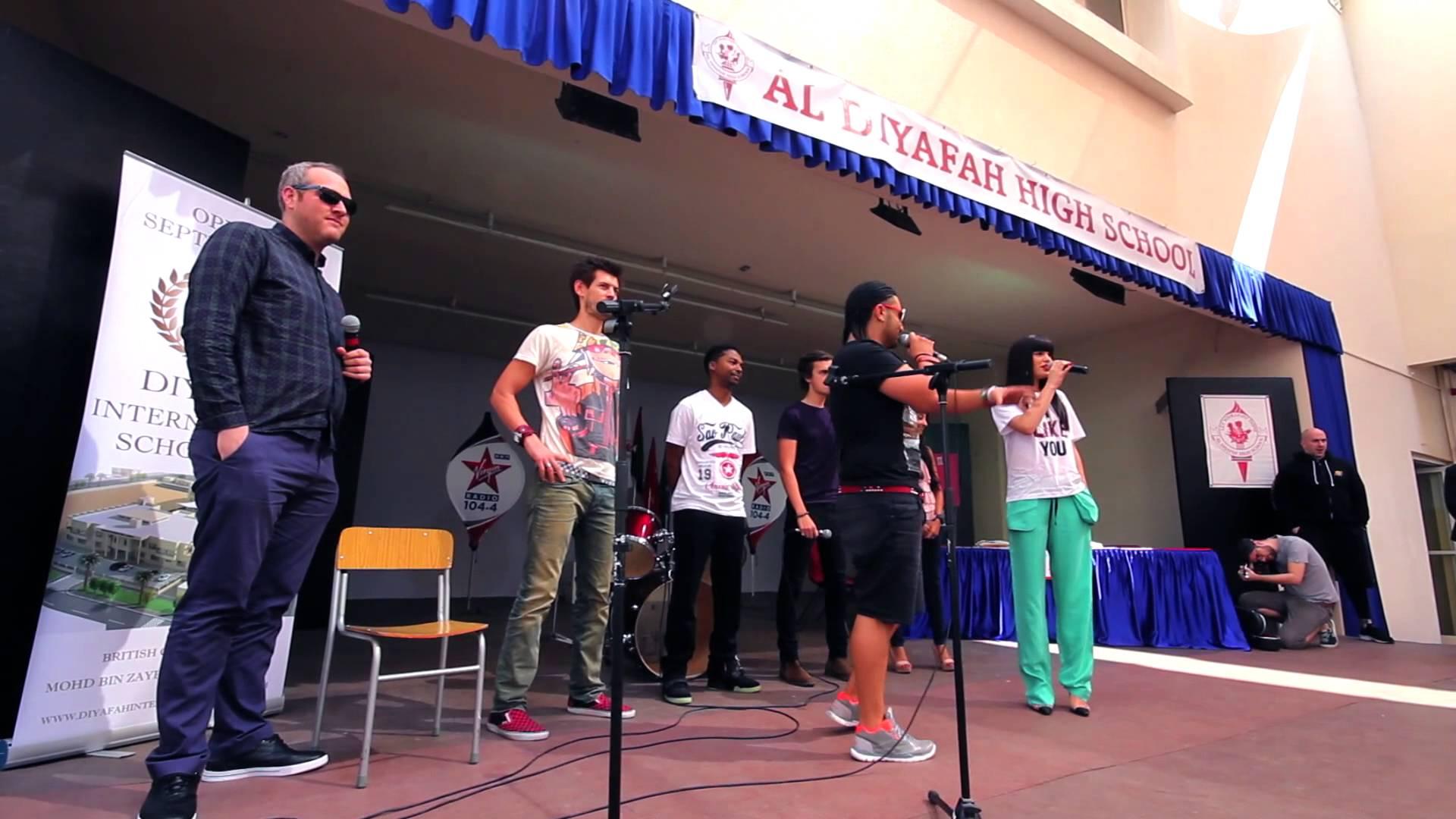 Jessie J in Dubai - Al Diyafah School