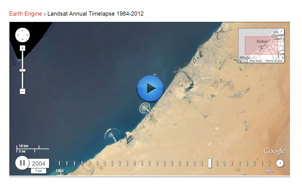 Dubai growth from 1980 to 2012
