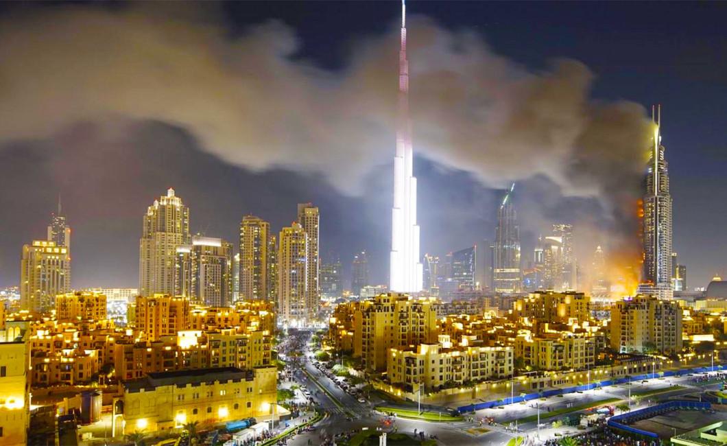 Dubai Fire Nye Dowtown Dubai The Address Videos And
